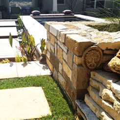 Water Walkway & Stone Work