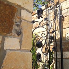 Custom Courtyard Gate & Stone Work