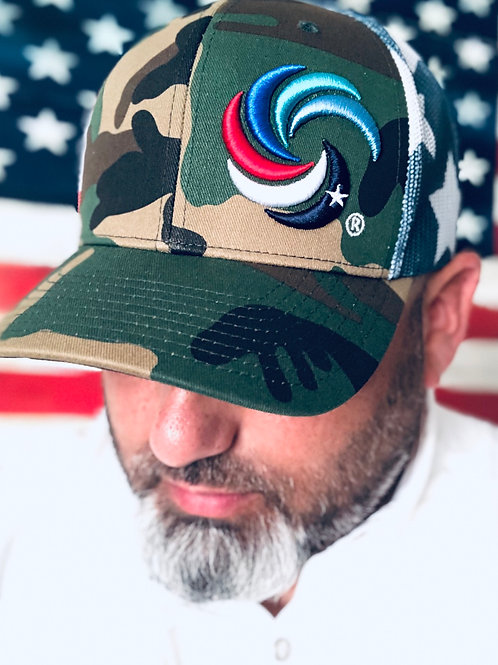 3D Wave Trucker Camo/Stars and Stripes
