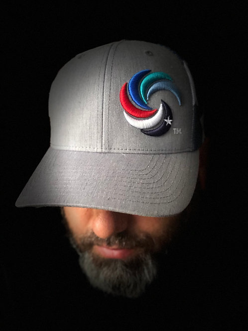 3D Wave Trucker Heathered Grey/Stars and Stripes