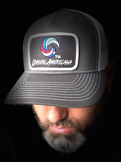 Black Patch Hat Trucker Graphite