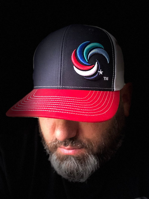 3D Wave Trucker Navy/Red