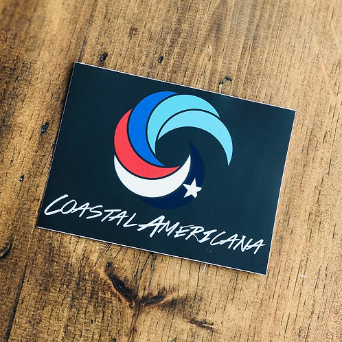Coastal Americana 5x4in. Sticker