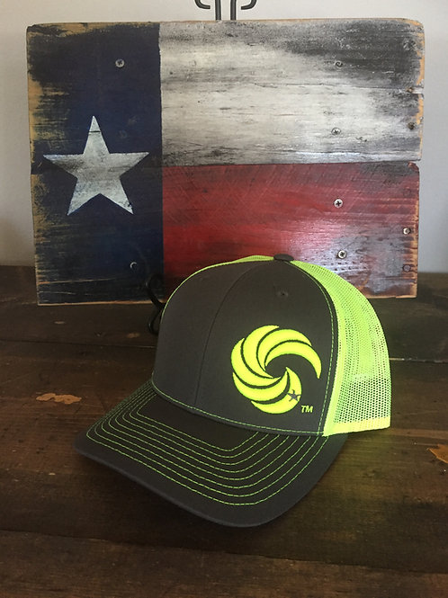 3D Wave Trucker Hat Graphite/NeonYellow Wave