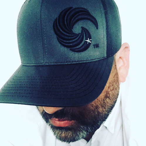 3D Wave Trucker Hat Graphite/Black Wave