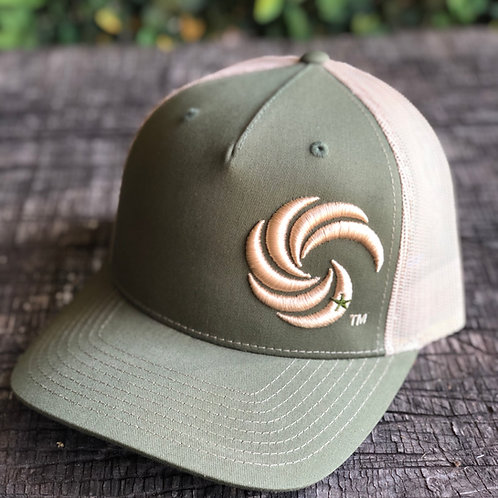 3D Tan Wave, Army Green