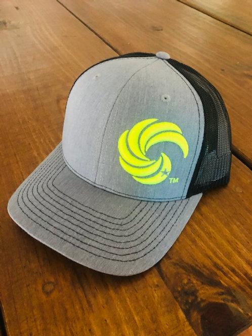 3D Wave Trucker Heathered Grey/Black/NeonYellow Wave