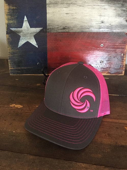 3D Wave Trucker Hat Graphite/Neon Pink Wave