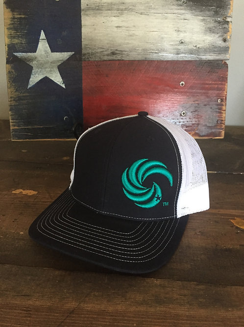 3D Wave Trucker Hat Navy/Teal Wave
