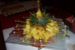 Brochettes d'ananas aux crevettes