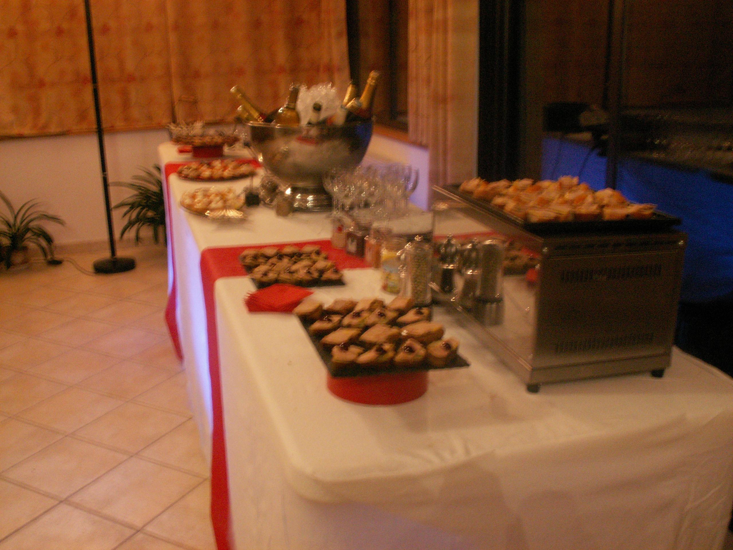 Buffet apéritif et ses toasts