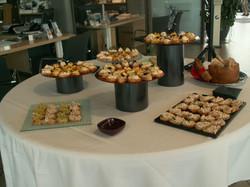 buffet de diverses tartines