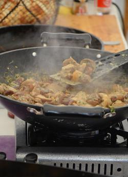 wok de cèpes