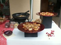 buffet de foie gras chaud
