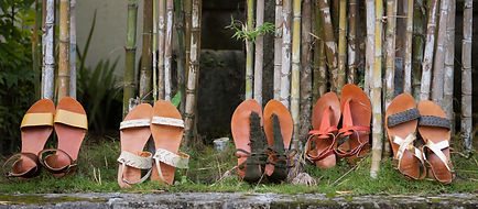 Bamboo Lane leather sandals. Shop online in Singapore