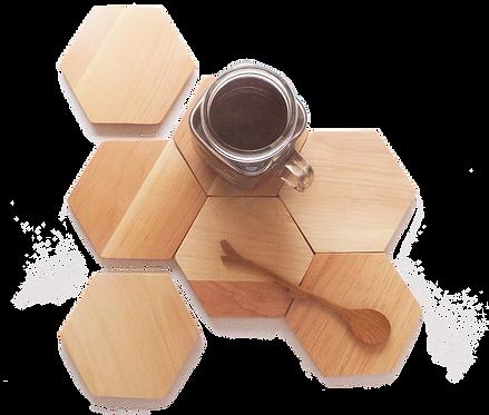 Birch Hexagon Coasters