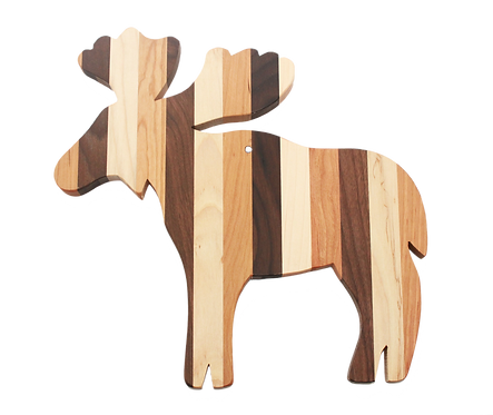 Mixed Wood Moose Shaped Cutting Board