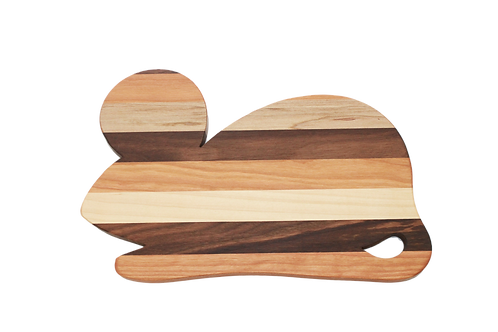 Mixed Wood  Mouse Cutting Board