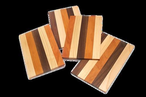 Set of 4 Mini Mixed Wood Cutting Boards
