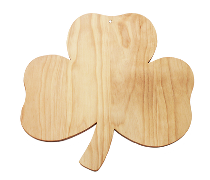 Shamrock Shaped Cutting Board (large)