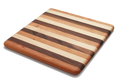 Square Mixed Hardwood Cutting Board
