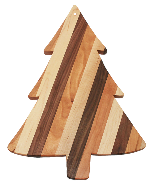 Mixed  Wood Pine Tree  Cutting Board