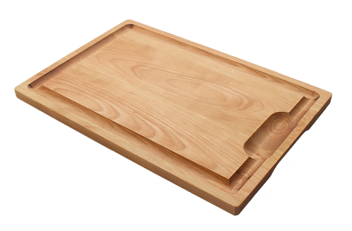 Hardwood Cutting Board with Juice Well & Groove