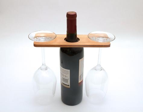 Wine Caddy, Wooden Wine Glass Holder