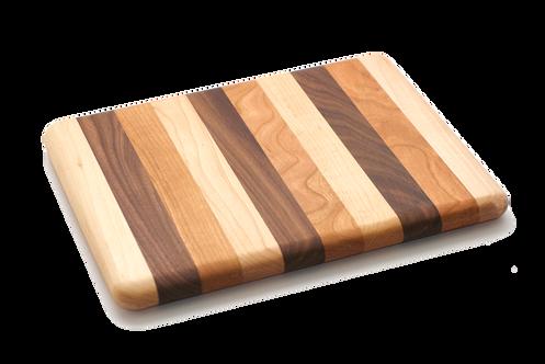 8x10 Mixed Wood Cutting Board Maple Cherry Walnut