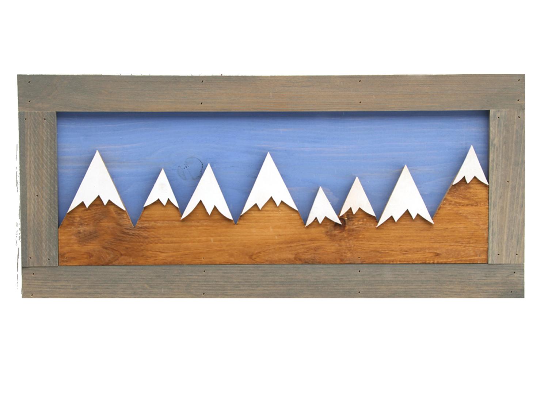 Wooden Mountain Wall Art Manchesterwoodcraft