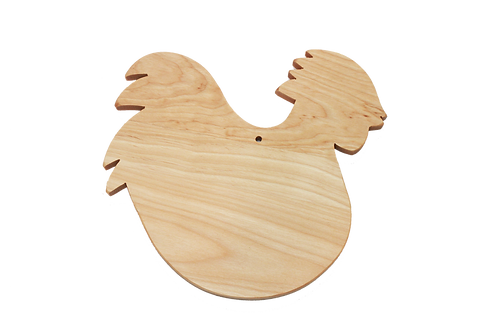 Rooster Shaped  Cutting Board (small)