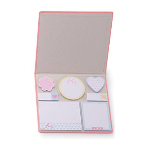 Conjunto Adesivo 7 Blocos Pink Stone - Marmore
