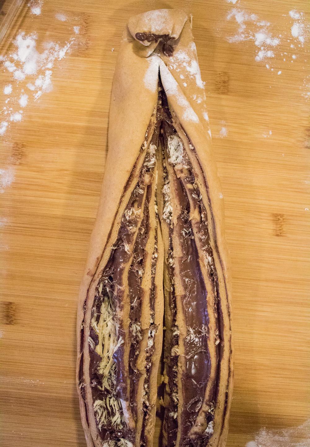עוגת שמרים שוקולד חלבה טבעוני עוגה טבעונית מכוסמין מלא