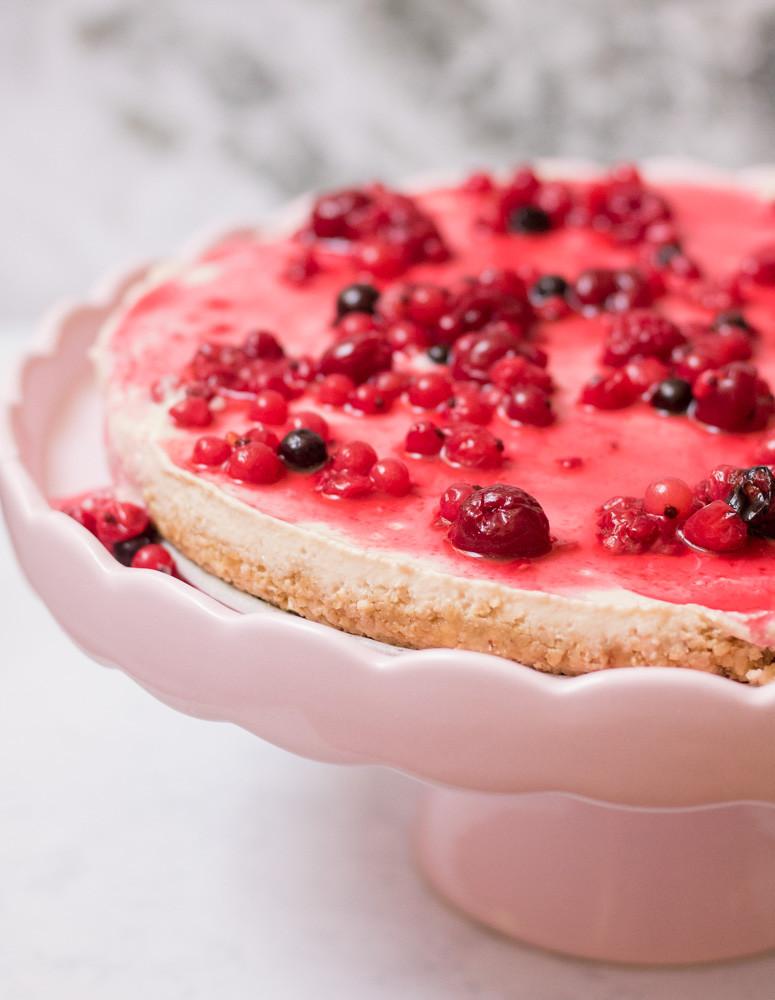עוגת גבינה טבעונית ללא גלוטן וללא אפייה