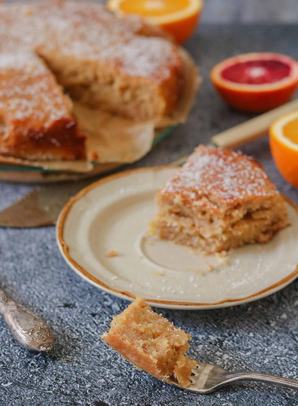 עוגת תפוזים טבעונית מקמח כוסמין מלא מזינה בריאה וטעימה