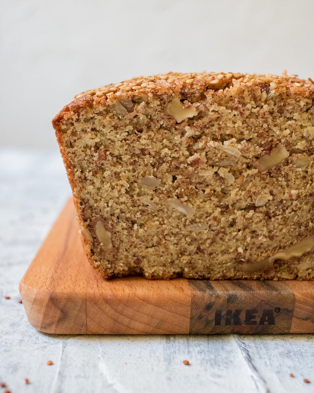 לחם חלבון טבעוני ללא גלוטן קינואה עדשים דוחן מזין בריא