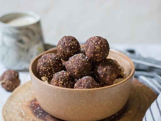 כדורי שוקולד עם נגיעות קראנץ' ללא גלוטן