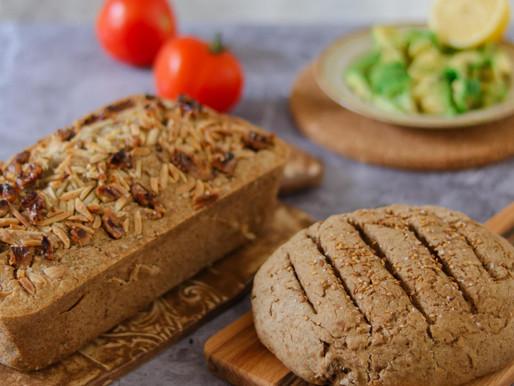 לחם כוסמת ללא גלוטן ולחם מקמח כוסמין מלא אוורירי וטעים
