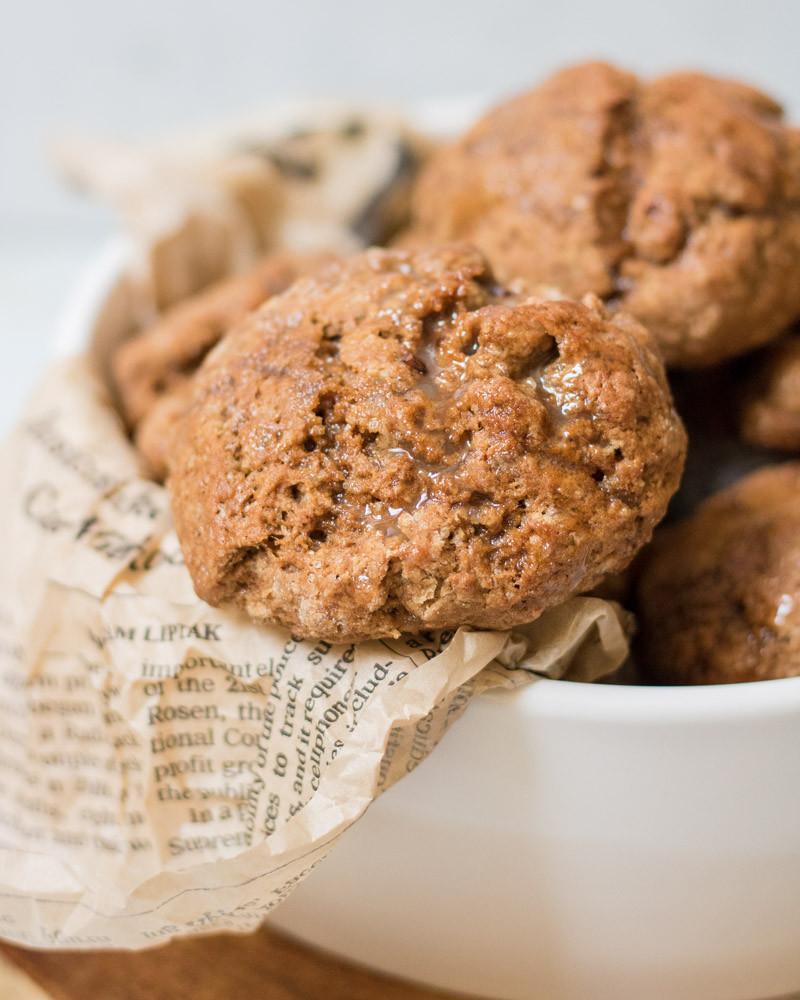 לחמניות קפה  מתוקות טבעוניות מקמח כוסמין מלא