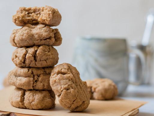 עוגיות טחינה מקמח כוסמין מלא
