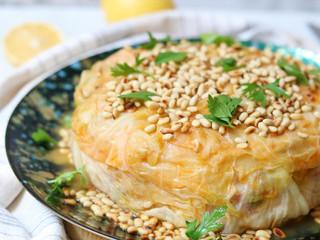 עוגת כרוב ממולא באורז וירקות