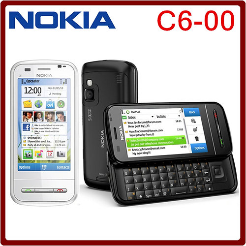 nokia keyboard phone. original nokia c6 mobile phone c6-00 qwerty keyboard unlocked 3g gsm wifi gps 5m nokia