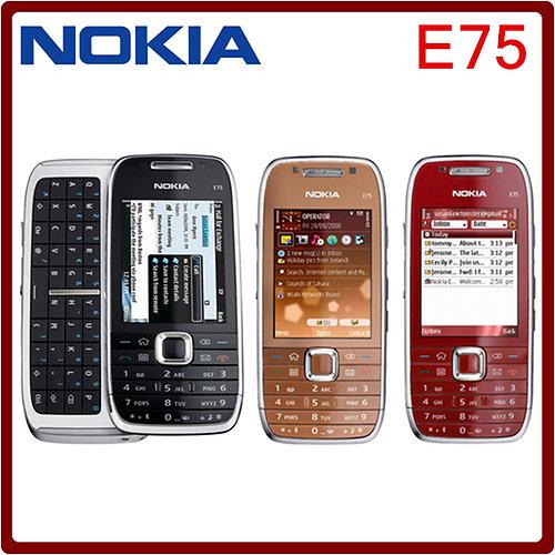 nokia qwerty phones. original nokia e75 mobile phone 3g wifi unlocked qwerty keyboard slider qwerty phones