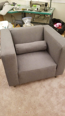 Re-upholstery of chair