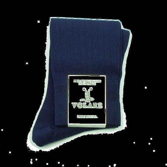 Classic Navy Ribbed Socks