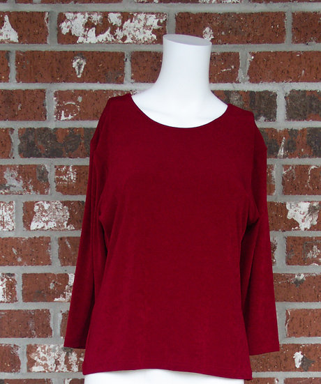 Red Fiore Slinky Shirt