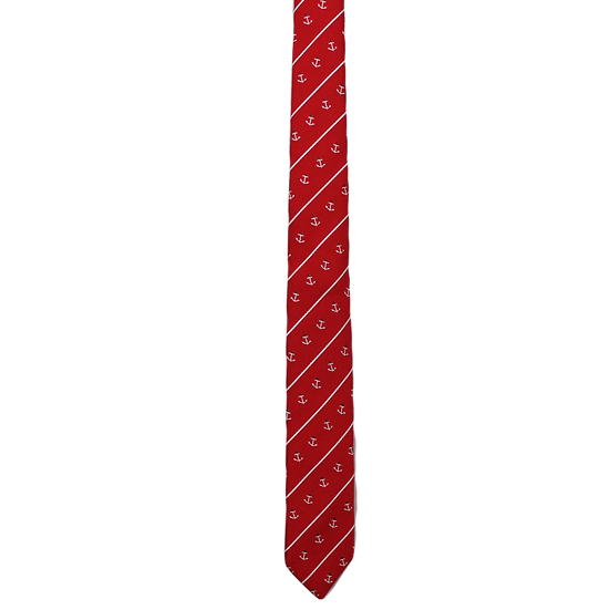 Red & White Anchor Tie