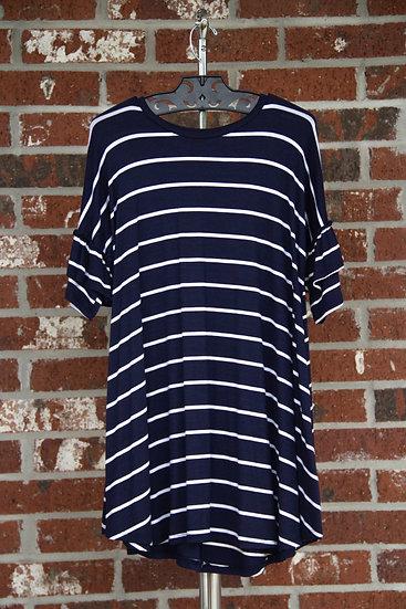 Navy/White Stripe Dress