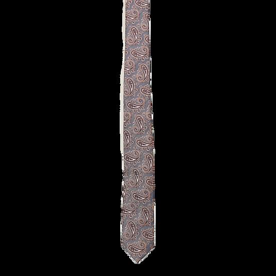 Navy & Rust Paisley Tie