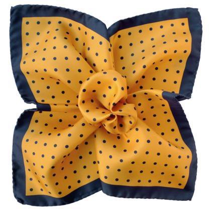 Yellow Pattern Pocket Square